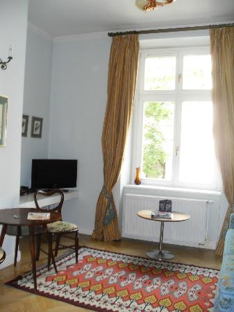 Crystal Suites: Living room (kitchen off camera)