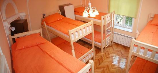 Belgrade Hostel Namaste: Orange-8 bed dorm room