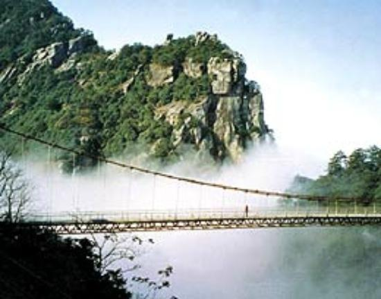 Haihui Temple of Lushan: Stone Gate valley, The Iron Bridge