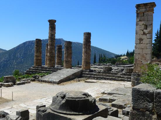 Start of the long walk - Picture of Delphi Ruins, Delphi ...
