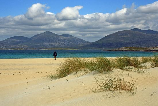 Luskentyre : Lusketyne beach, Isle of Harris, Outer Hebrides, Scotland