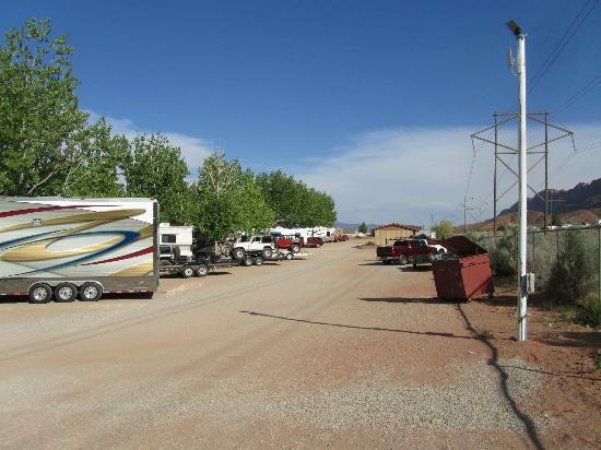 d51e72f0da Spanish Trail RV Park  The back of the back row - room to leave trailers