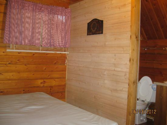 Branson KOA: inside the small cabin