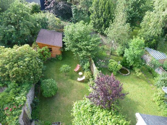 Coeur De Loire : le jardin derrière l'hotel