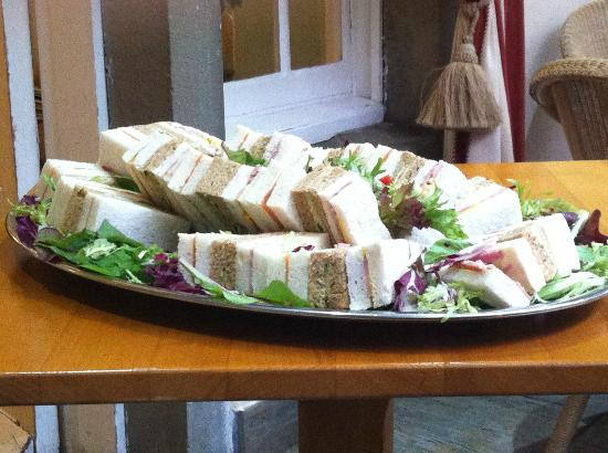 The Speech House Hotel: Platter of sandwiches.