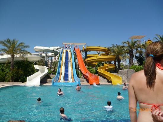 Royal Wings Hotel: one of the waterslide pools