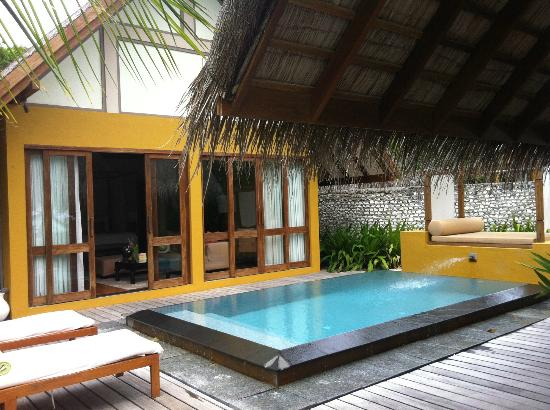 Four Seasons Resort Maldives at Landaa Giraavaru: View from the outside with private pool