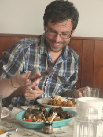 C & W's African Experience: This is my brother - just loving the Banquet - £12.50 go for it!!
