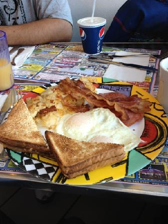 Marvis Diner: eggs bacon and pork roll! yummy!