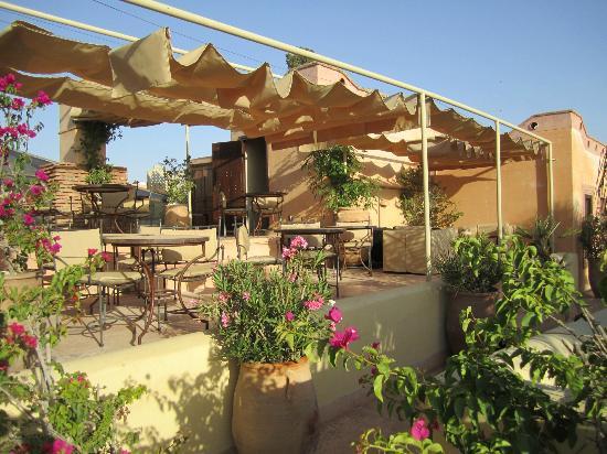 La Villa Nomade: La terrasse du petit déjeuner