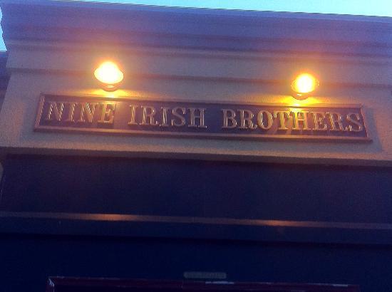 Nine Irish Brothers: Sign at 9 Brothers
