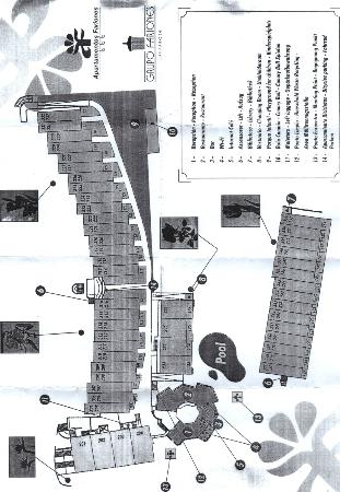 Apartamentos Fariones: Map of Complex