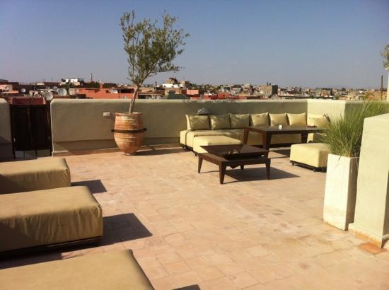 Riad Charlott': roof terrace