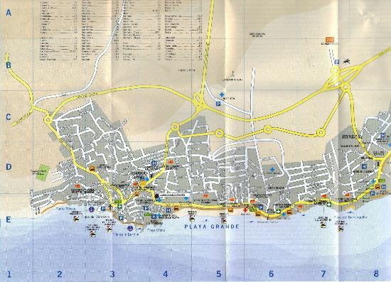 Apartamentos Fariones: Street Map