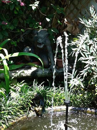 Antebellum Guest House: Gargoyle and koi