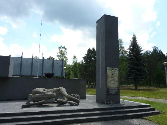 Zagan, Poland: Memorial at front of Museum