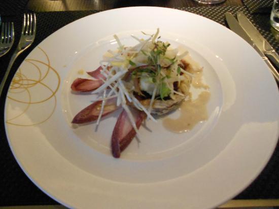 Patrisey: goats cheese and sweet onion tart