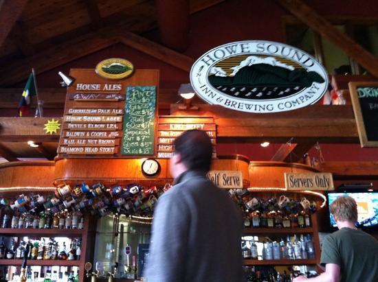 Howe Sound Brew Pub: The beer menu