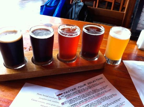 Howe Sound Brew Pub: Tasters - choose your own