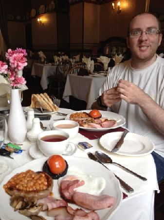 The Waverley Hotel: The long journey made him a little hungry.... thank goodness for the Waverley breakfast