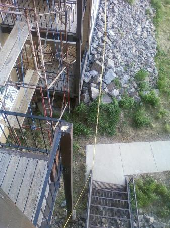 The Mountainside at Silver Creek: Scaffolding Outside Condo