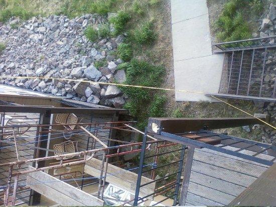 The Mountainside at Silver Creek: Scaffolding Outside Condo