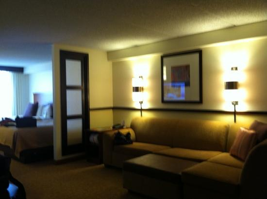 Hyatt Place Dublin/Pleasanton: huge couch and tv swivels for viewing