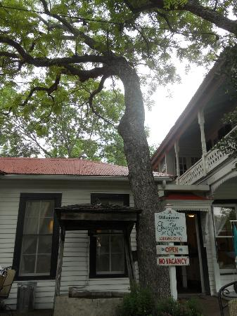 Gruene Mansion Inn Bed & Breakfast: A welcome morning sight, the entrance for breakfast