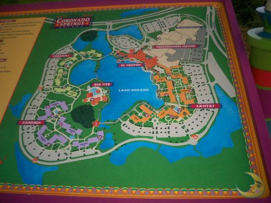 Map of resort - Picture of Disney's Coronado Springs Resort, Orlando Disney World Map Of Resorts on