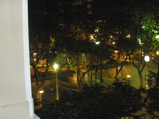 Pension Alameda: View of a square with cafes from our room