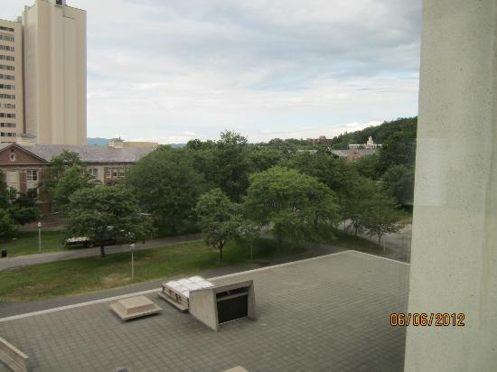 Hotel UMass: 6th floor view looking toward Northeast Residential area