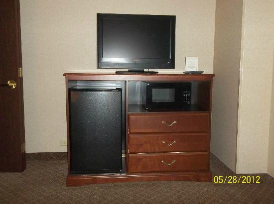 Holiday Inn Express Mentor (Lamalfa Conference Center): Flat screen tv, microwave and frig