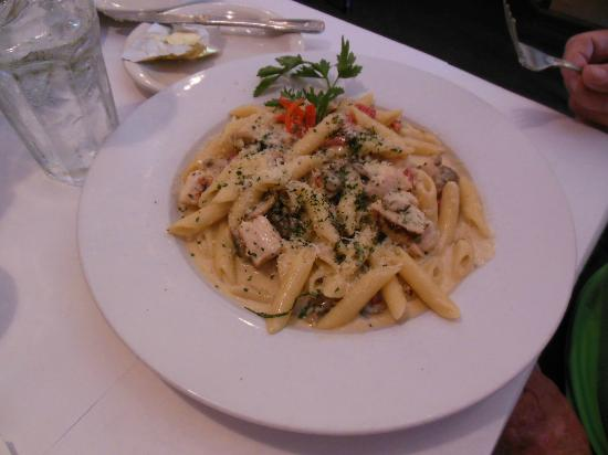 Cirinos At Main Street: Pasta with Chicken and Dijon Mustard
