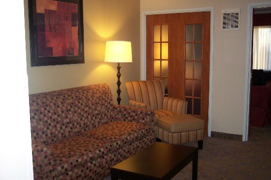 Comfort Suites Denver Tech Center: Love the french doors between the living room and bedroom