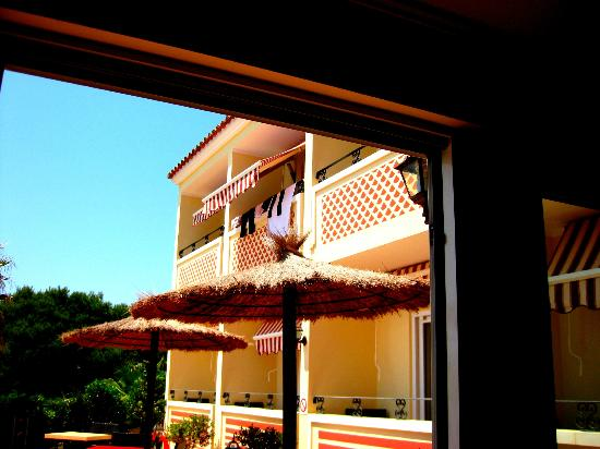 Hotel Sa Barrera: our clothes hanging to dry