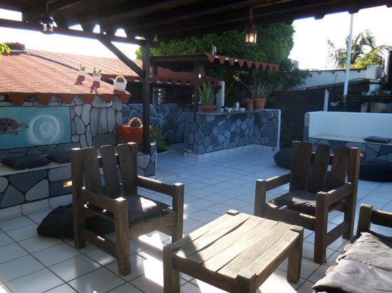 Posada Lagunita: La terraza donde tomabamos nuestros tragos antes de la cena
