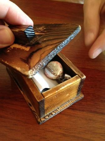 Fubuki Sushi: This was cute. You get your bill in a little wooden box.