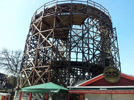 Bakken - World's Oldest Amusement Park: the old wooden roller coaster