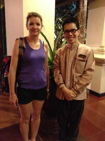Siripanna Villa Resort and Spa Chiang Mai: One of the wonderful staff members AOF.