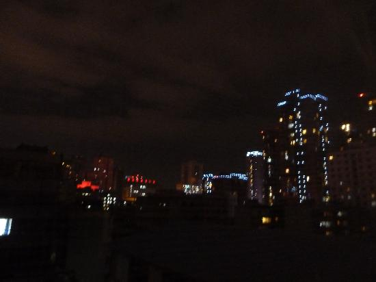Camellia Hotel : nightime view from bedroom window