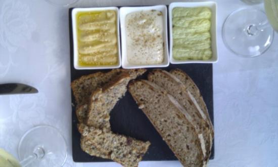 The Jordan Restaurant : Breads - humus, garlic butter and herb butter