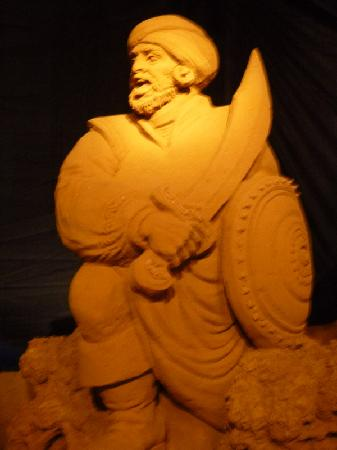 't Zeepaardje: sandsculpture festival Disney