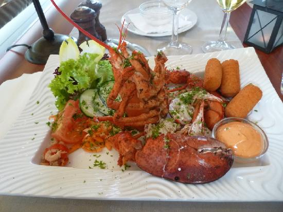 't Zeepaardje: my lobster at the Seahorse restaurant
