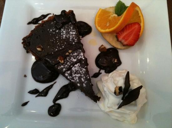 la pause gourmande: tarte au chocolat sur lit de spéculos
