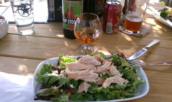 MacDowell Brew Kitchen: Cranberry and blue cheese salad with pulled chicken