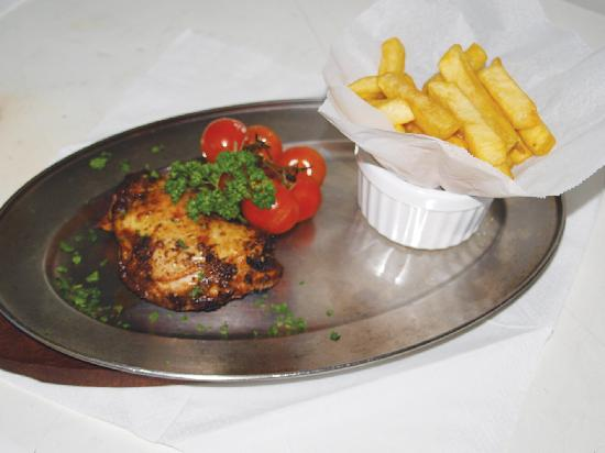 The Plough at Bradford Leigh: One of our dishes spatchcok chicken