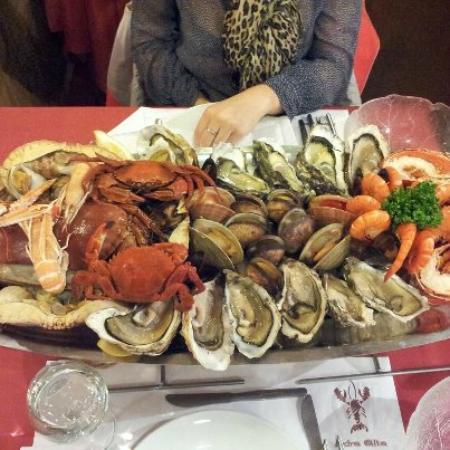 """Boulogne-Billancourt, Francia: plateau de fruits de mer """"une dose"""""""