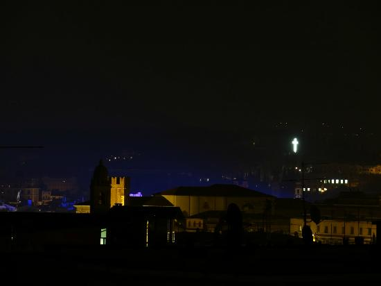 B&B Panorama: Night view from the roofterrace while a performance was being held at the Arena