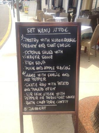 Cafe Balear : menu