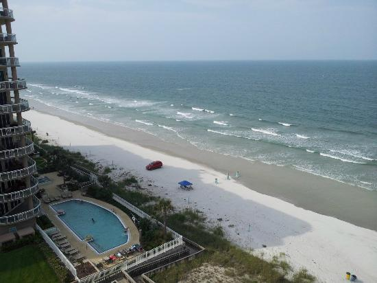 The view from our suite at the Bahama House in Daytona Beach!